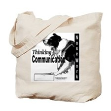 Nose work search border collie Tote Bag