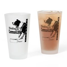 Nose work search border collie Drinking Glass