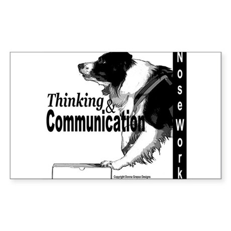 Nose work search border collie Sticker (Rectangle)