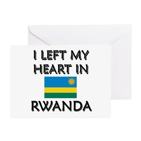 I Left My Heart In Rwanda Greeting Cards (Package