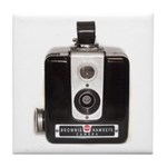 The Brownie Hawkeye Camera Tile Coaster