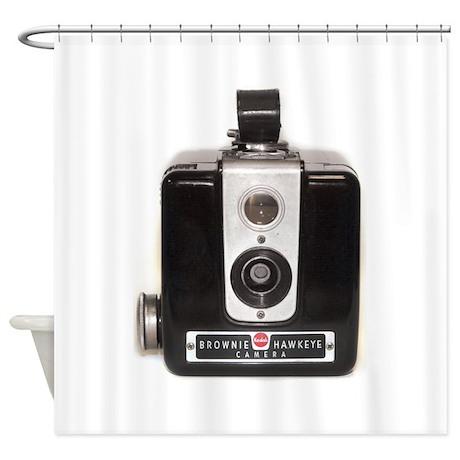 The Brownie Hawkeye Camera Shower Curtain by browniecamera