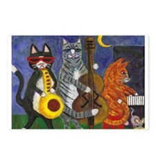 Jazz Cats at Night Postcards (Package of 8)