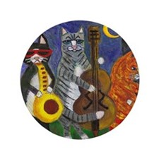 "Jazz Cats at Night 3.5"" Button"