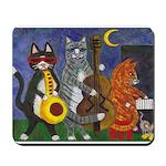 Jazz Cats at Night Mousepad