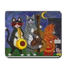 Jazz Cats at Night Mousepad