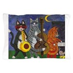 Jazz Cats at Night Pillow Case