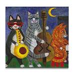 Jazz Cats at Night Tile Coaster