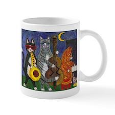 Jazz Cats at Night Small Mugs