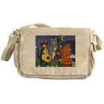 Jazz Cats at Night Messenger Bag