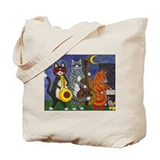 Jazz Cats at Night Tote Bag
