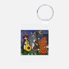 Jazz Cats at Night Keychains