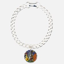 Jazz Cats at Night Charm Bracelet, One Charm