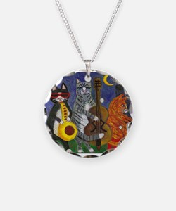 Jazz Cats at Night Necklace