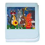 Jazz Cats at Night baby blanket