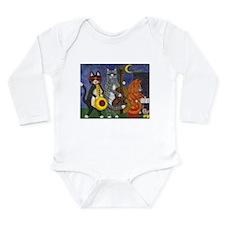 Jazz Cats at Night Long Sleeve Infant Bodysuit