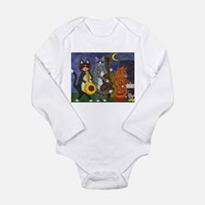 Jazz Cats at Night Long Sleeve Infant Bodysuit