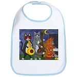 Jazz Cats at Night Bib