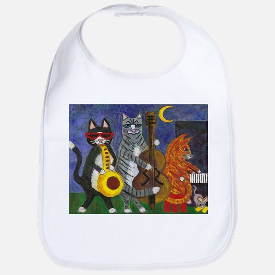 Jazz Cats at Night Bib