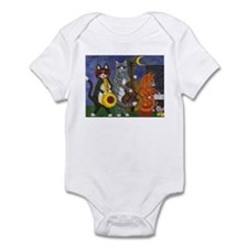 Jazz Cats at Night Infant Bodysuit