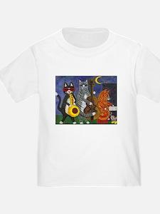 Jazz Cats at Night T