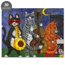 Jazz Cats at Night Puzzle