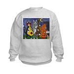 Jazz Cats at Night Kids Sweatshirt