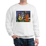 Jazz Cats at Night Sweatshirt