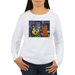 Jazz Cats at Night Women's Long Sleeve T-Shirt