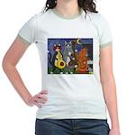 Jazz Cats at Night Jr. Ringer T-Shirt