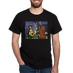 Jazz Cats at Night Dark T-Shirt