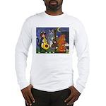 Jazz Cats at Night Long Sleeve T-Shirt