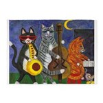 Jazz Cats at Night 5'x7'Area Rug