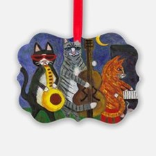 Jazz Cats at Night Ornament
