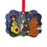 Jazz Cats at Night Picture Ornament
