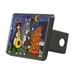 Jazz Cats at Night Rectangular Hitch Cover
