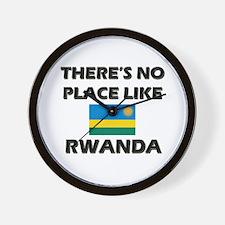 There Is No Place Like Rwanda Wall Clock