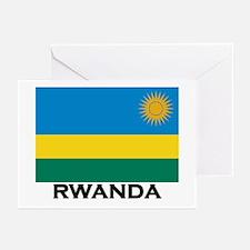 Rwanda Flag Merchandise Greeting Cards (Package of