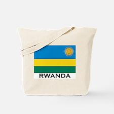 Rwanda Flag Merchandise Tote Bag