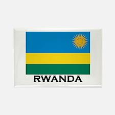 Rwanda Flag Merchandise Rectangle Magnet