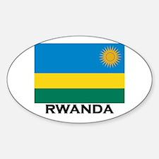 Rwanda Flag Merchandise Oval Decal