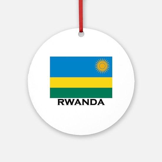 Rwanda Flag Merchandise Ornament (Round)