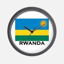 Rwanda Flag Merchandise Wall Clock