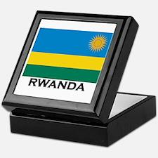 Rwanda Flag Merchandise Keepsake Box