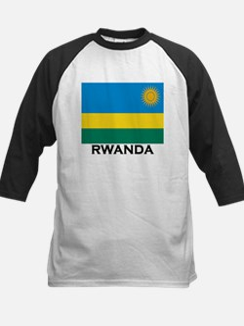 Rwanda Flag Merchandise Kids Baseball Jersey