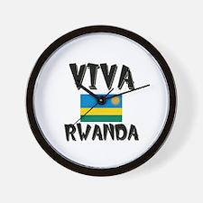 Viva Rwanda Wall Clock