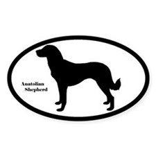 Anatolian Shepherd Silhouette Oval Decal