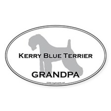 Kerry Blue GRANDPA Oval Decal