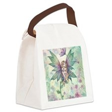 Mystic Garden Flower Fairy Art Canvas Lunch Bag