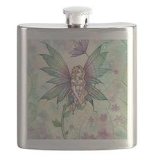 Mystic Garden Flower Fairy Art Flask